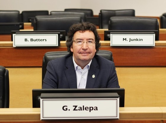 Regional Councillor Gary Zalepa at Council Chambers (Beth Audet, Metroland)
